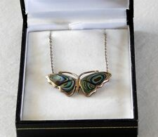 Sterling Silver & Abalone Shell Butterfly Necklace