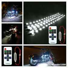 """4x White Motorcycle 12"""" LED Strip Light With Wireless Remote Control For Aprilia"""