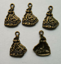 15 pcs bronze plated  girl charm pendant 15 x 21mm