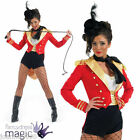 LADIES SEXY RINGMASTER RING MASTER LION TAMER CIRCUS FANCY DRESS COSTUME AND HAT