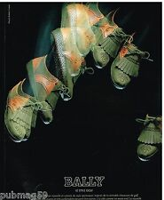 Publicité Advertising 1987 Les Chaussures Bally style Golf par Robert Huber