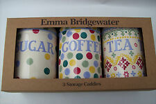 Emma Bridgewater New Design Polka Dot Coffee, Tea and Sugar Canisters