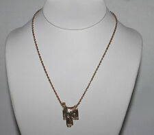 14 Kt Gold Overlay Cowboy Horse Saddle Pendant & Gold Overlay 18 Inch Necklace