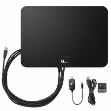 Indoor HDTV Antenna,Pictek Digital TV Antenna with Amplifier 15 ft cable coaxial