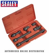 "Sealey Impact Adaptors & Extensions Bar Set 6pc 1/2""Sq Drive AK5514 HEAVY DUTY"