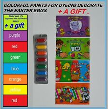 COLORFUL PAINTS FOR DYEING DECORATE THE EASTER EGGS + GIFT- HEAT SHRINK SLEEVE
