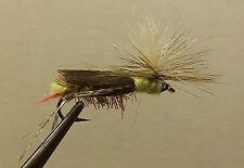 1 Dozen - Paracute Dave's Hopper Yellow -  Dry Fly - Trout