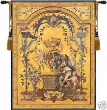 "Dame Au Blason French Tapestry Wall Hanging H 58"" x W 44"""