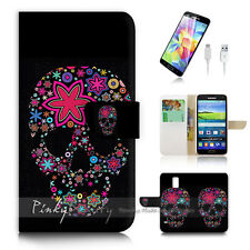 Samsung Galaxy S5 Flip Phone Case Cover PB10875 Sugar Skull
