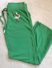 JUICY COUTURE WOMENS SIZE L LARGE Knit Pants, Green with Crown Inseam 32