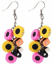 Funky liquorice allsort cluster earrings,fun and quirky jewellery.  UK seller