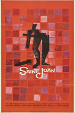 Rare Saul Bass St Joan Original US 1 [One] Sheet Movie Film Poster Linen Backed