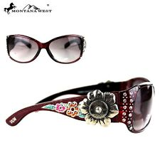 Montana West Embroidery 12 Gauge Flower Concho Collection Sunglasses