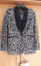 L@@K NWT SIZE 12 TWIGGY M&S STUNNING LACE EFFECT TUXEDO DINNER JACKET WEDDING?