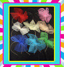 80s Alice band Hairband Tutu Net Bow Hen Party Fascinator Black or Red Pink Blue