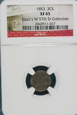 1853 Xf45 Stacks'S W. 57Th St Collection Three Cent! #A4680