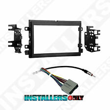 Aftermarket Ford Double-Din Radio Mounting Dash Kit w/ Wires Car Stereo Install