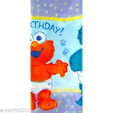 SESAME STREET BEGINNINGS PLASTIC TABLECOVER ~ First Birthday Party Supplies Elmo