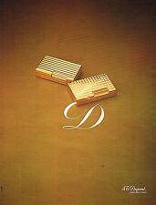PUBLICITE  1974   DUPONT   orfèvre à Paris briquets