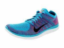 NIKE FREE 4.0 FLYKNIT Running Trainers Shoes Gym - UK 9.5 (EUR 44.5) Blue Lagoon