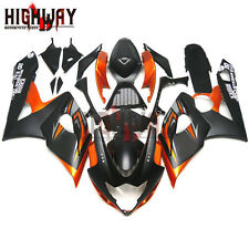 For Suzuki GSX-R1000 GSXR1000 2005-2006 ABS Fairing Kit Bodywork Black Orange