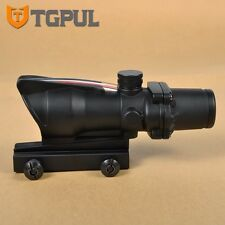 TGPUL Hunting Tactical 4X32 ACOG Scope Fiber Source Red .223 5.56