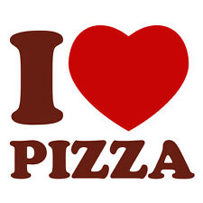 Burgundy & Red I Love Pizza Delivery Funny Car Window Fridge Vinyl Decal Sticker