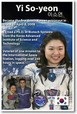 Astronaut Yi So-yeon - First Korean Woman in Space - NEW POSTER