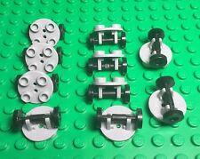 Lego New Bulk X10 Trolley / SkateBoard Wheel,Round Modified Plate With Holder