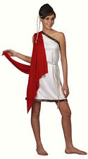 LADIES VALENTINES ROMAN FANCY DRESS COSTUME GREEK SPARTAN TOGA OUTFIT 10-14 NEW