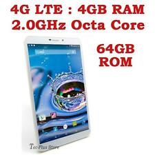 "UK STOCK: TECA LTE-830 4G ANDROID 5.1 OCTA CORE 4GB-RAM 64GB 8"" TABLET PHONE x"