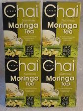 4 x BOXES OF MORINGA MIRACLE TREE  HERBAL TEA 100 TEABAGS  CAFFEINE FREE
