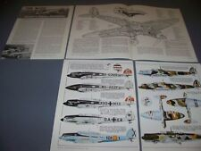 VINTAGE..HEINKEL HE 70..3-VIEWS/CUTAWAY/DETAILS/COLOR PROFILES...RARE! (881E)