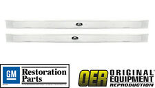 1965-1970 Oldsmobile 88 and 98 2 Door Licensed GM Riveted Sill Scuff Plate-Pair