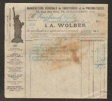 """LEVALLOIS-PERRET (92) USINE de CAOUTCHOUC & PNEUS """"A. WOLBER"""" en 1920"""