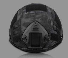 TACTICAL SERIES AIRSOFT PAINTBALL GEAR COMBAT FAST MILITARY HELMET COVER - BLACK