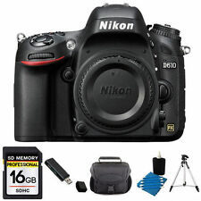 Nikon D610 24.3MP DSLR Camera (Body) + 16GB SD Accessory Kit
