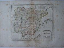 «Royaumes d'Espagne et de Portugal» par Robert de Vaugondy-Delamarché 1800