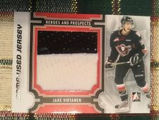2013-14 ITG Jake Virtanen Game Used Jersey Card Team Canada Calgary Hitmen