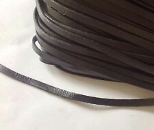 Genuine Flat Leather Cord, Lace, Thong. Black 6mm. U.K. Seller