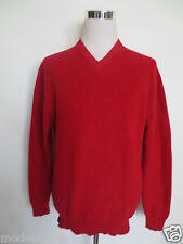 V- Pullover ABERCROMBI& FITCH M  50  Baumwolle rot  TIP TOP /U2