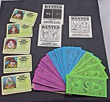 Stop Thief Game Pieces 3 Wanted Posters 5 Detective Licenses And Play Money.