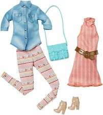 Barbie Doll Fashionistas 2 looks pack Fashions Clothing Outfits Casual Pastels