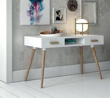 DK-900 Dupen Design Schreibtisch Computertisch Konsole Weiß Eiche Bürotisch