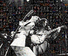 LARGE UNIQUE MOSAIC PHOTO POSTER OF LYNYRD SKYNYRD  R.I.P. NO 9