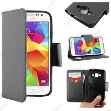 Housse Etui Coque Portefeuille Simili Cuir Noir Samsung Galaxy Core Prime G360F