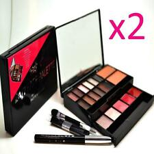 2 x Technic 24/7 Face Make Up Palette 12 Eyeshadows Bronzer Blusher Lipgloss
