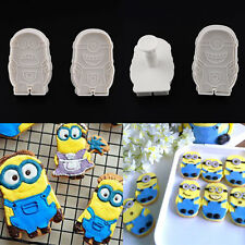 2pcs Minions Cake Soap Plunger Cutter Mold Biscuit Cookies Mould Kitchen Baking