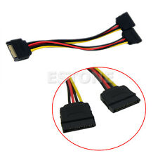 Hot! 20cm SATA Power T/Y Splitter Extension Cable Adapter