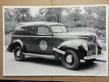 "12 By 18"" Black & White Picture 1941 FORD SEDAN DELIVERY LUCKY STRIKE CIGARETTE"